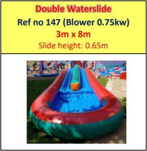 #147 Double Water Slide