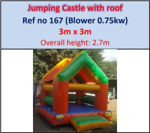 Jumping Castle with roof #167