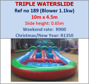 189 Triple Waterslide