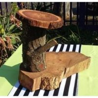 Cup Cake Stand Tree Log