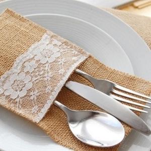 Hessian Cutlery Pouch
