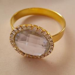 Napkin Ring Glass Diamond Ring