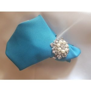 Napkin Ring Silver Ring With Pearls